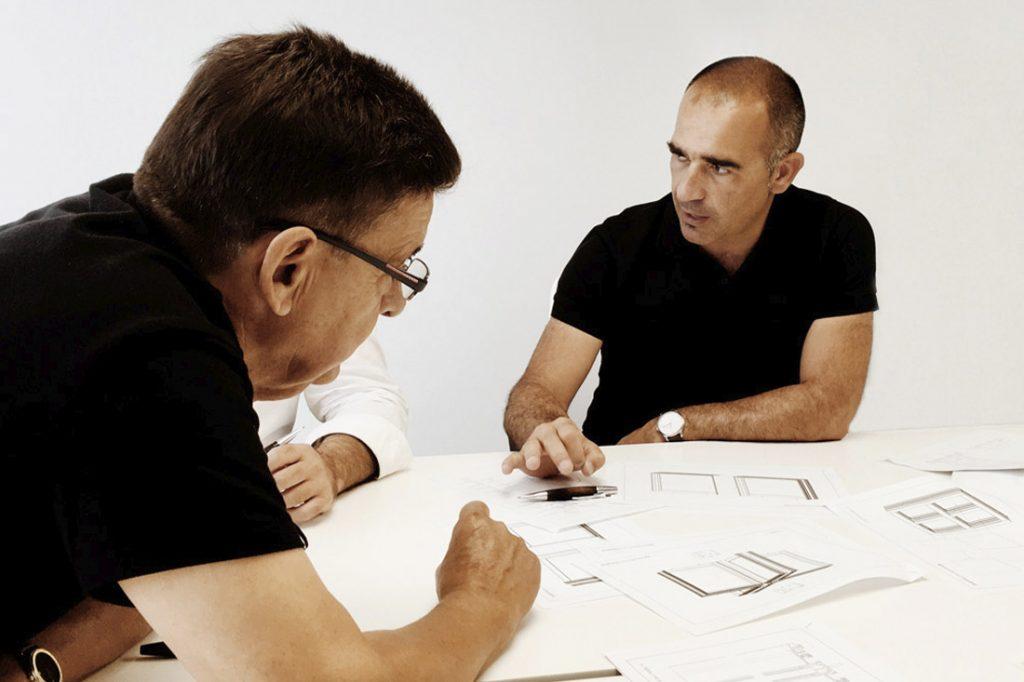 Aitor García Vicuña con Vicente Andreu